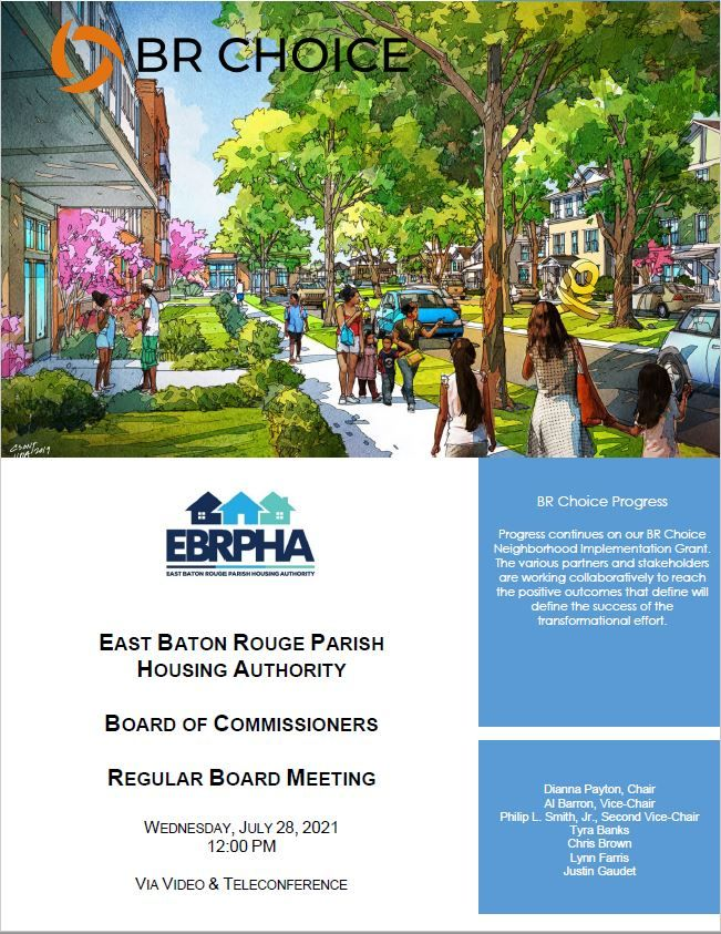 July 28, 2021 Board Meeting Agenda Cover