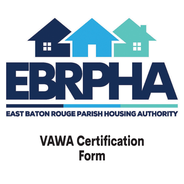 VAWA Certification Form cover sheet
