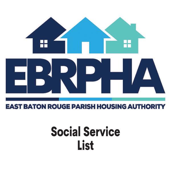 Social Service List cover sheet