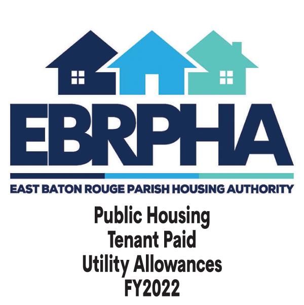 Public Housing Tenant Paid Utility Allowances FY2022