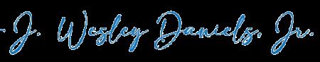 J. Wesley Daniels, Jr signature